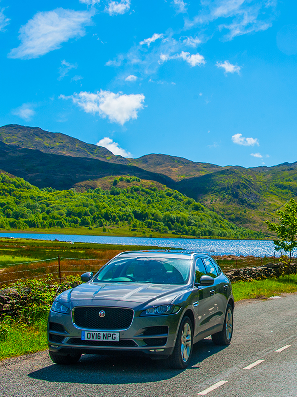 Jaguar F-Pace in Snowdonia