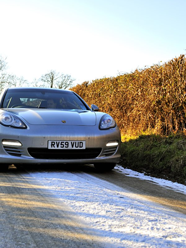 Porsche Panamera in the Cotswolds