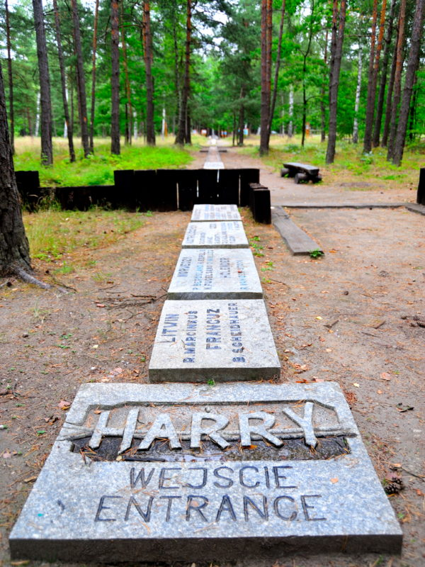 Entrance to Harry in Zagan, Poland